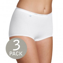 Sloggi Basic Maxi Briefs - White - 3 pack