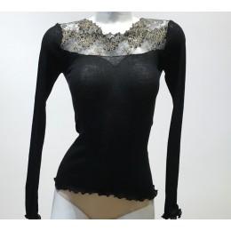 BOGLIETTI LUCILLE Long sleeve top. Black