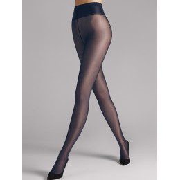 Wolford Individual 10 Tights. Navy.