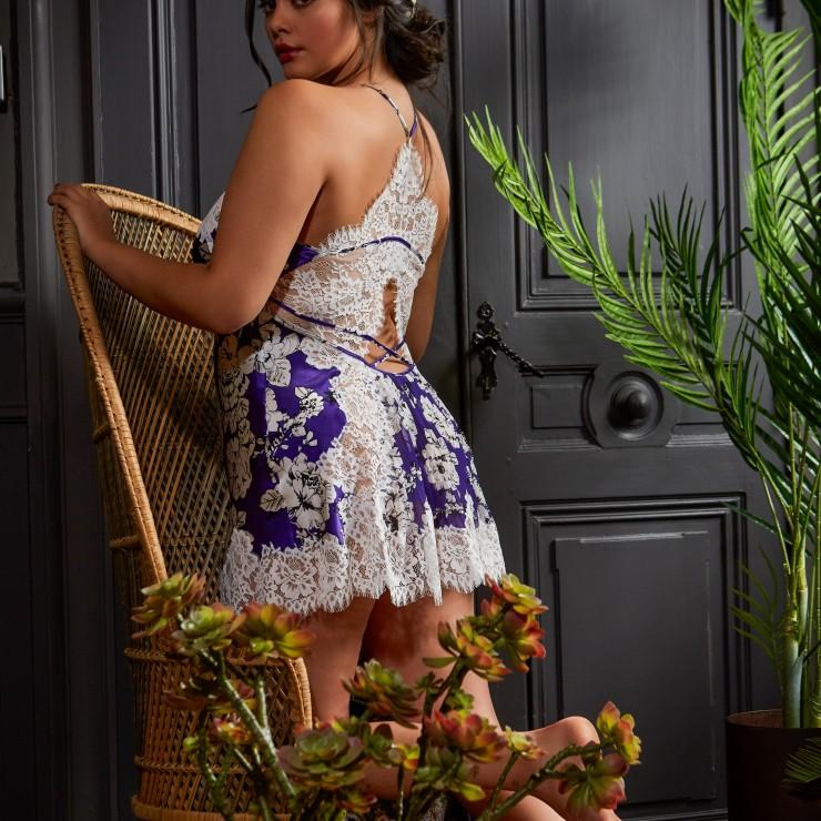 Marjolaine Lia Iris Flower Silk Chemise