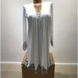 Coemi Italian Eyelash Lace, Nightdress,  Ivory