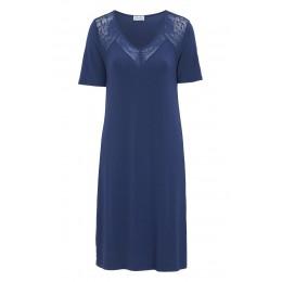 Damella Navy Sleeve Nightdress