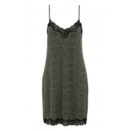 Damella Olive Spot Strap Nightdress