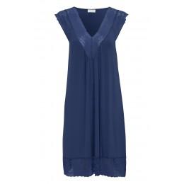 Damella Navy Sleeveless Nightdress