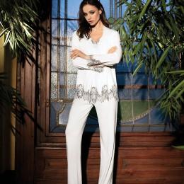 Coemi Pyjama. Long sleeves, Ivory