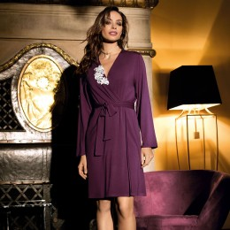 Coemi Dressing Gown. Plum