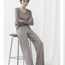 Mey Long Sleeve Pyjama Set Anthracite