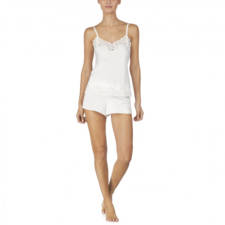 Ralph Lauren Satin & Lace Cami Set.  Ivory