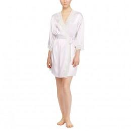 Ralph Lauren Satin & Lace Robe. Pink & Ivory