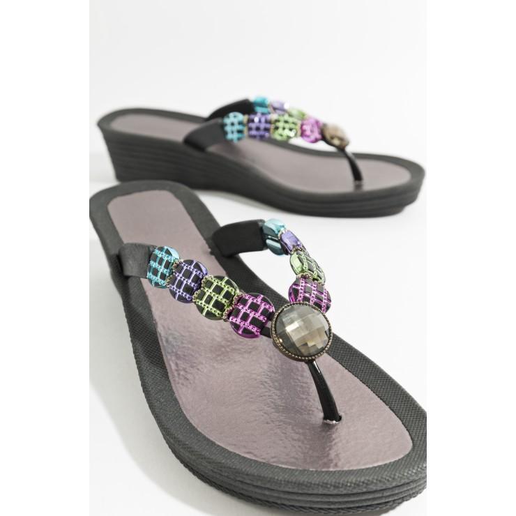 Piarossini Toe Post Sandals, Multi Colour