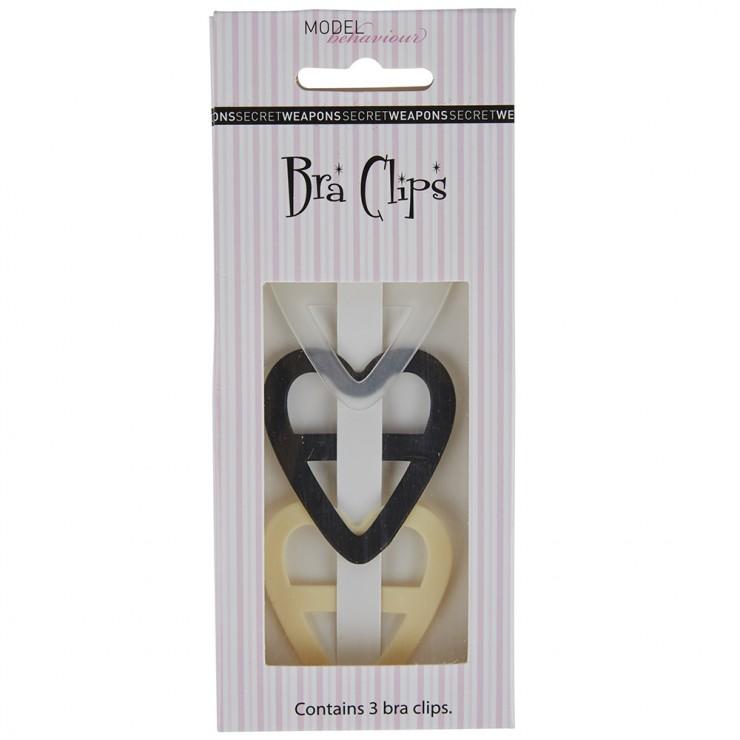 Secret Weapons Heart Bra Clips