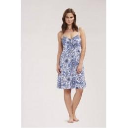 Rosch Beach/sun dress Blue & White Floral