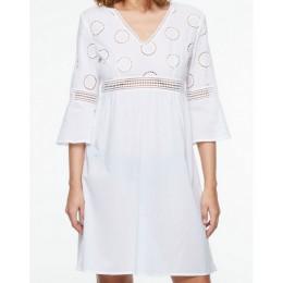 Chantelle Ombrage Beach Dress, Milk/cream