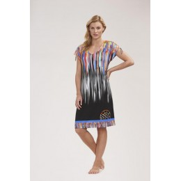 Feraud Beach Dress Multi/Black