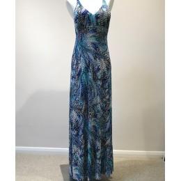 Feraud Star Sapphire Maxi Dress. Multi