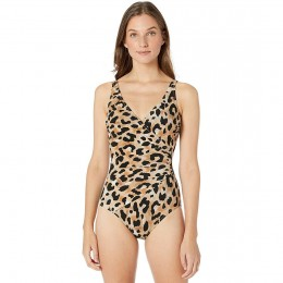 Gottex Kenya Animal Print Swimsuit Multi Brown