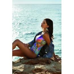 Nuria Ferrer Swimsuit Coral