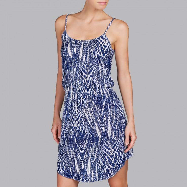 Andres Sarda Beach Dress Blue