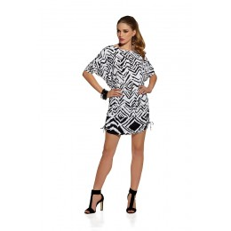 Roidal Black & White Tunic dress