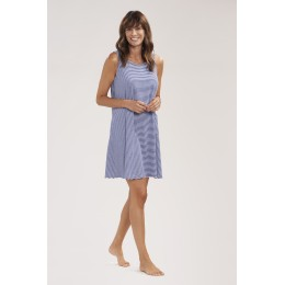 Rosch Beach dress. Navy/White stripes