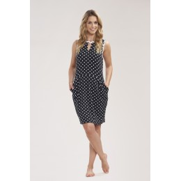 Rosch Sleeveless Beach/sun dress, black and white polka dot