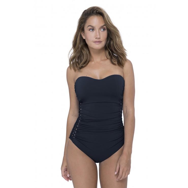 Gottex Fishnet Swimsuit. Black