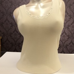 Boglietti Wool and Silk Thermal Vest Tank Top Ivory