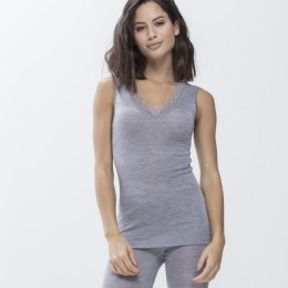 Mey Silk Touch Wool Thermal Vest  Grey